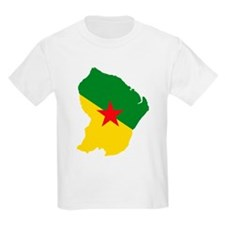 French Guiana Flag and Map T-Shirt