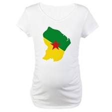French Guiana Flag and Map Shirt