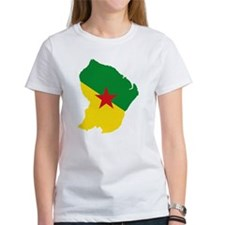 French Guiana Flag and Map Tee