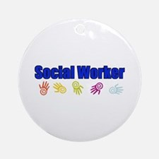 Social Worker Man Ornament (Round)