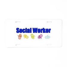 Social Worker Man Aluminum License Plate