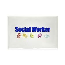 Social Worker Man Rectangle Magnet (100 pack)