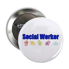 """Social Worker Man 2.25"""" Button"""