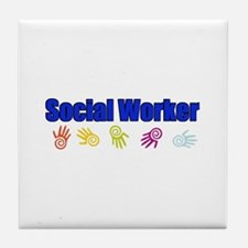 Social Worker Man Tile Coaster