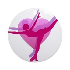 Skater Silhouette Ornament (Round)