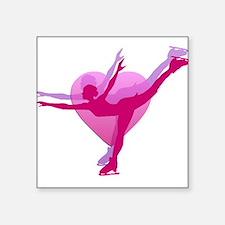 """Skater Silhouette Square Sticker 3"""" x 3"""""""