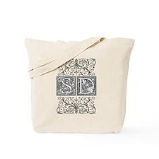 SD, initials, Tote Bag