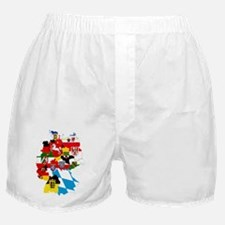 Germany Subdivisions Flag and Map Boxer Shorts