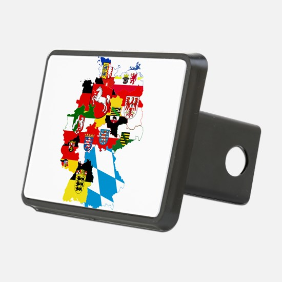 Germany Subdivisions Flag and Map Hitch Cover