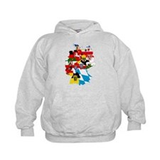 Germany Subdivisions Flag and Map Hoodie