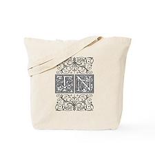 TN, initials, Tote Bag