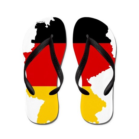 Germany Subdivisions Flag and Map Flip Flops