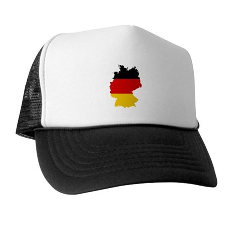 Germany Subdivisions Flag and Map Trucker Hat