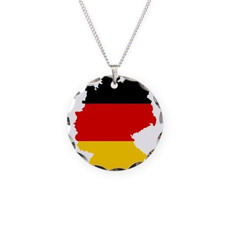 Germany Subdivisions Flag and Map Necklace Circle