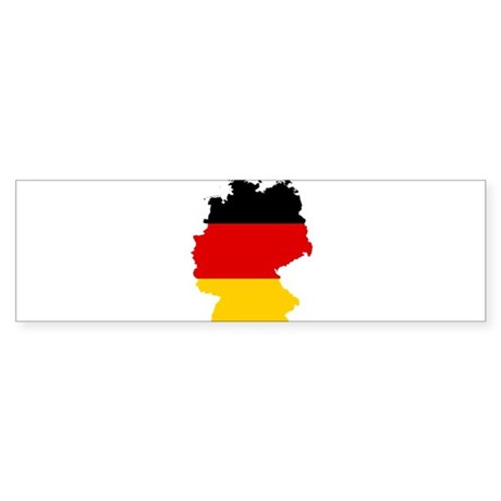 Germany Subdivisions Flag and Map Sticker (Bumper)