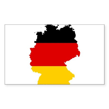 Germany Subdivisions Flag and Map Sticker (Rectang