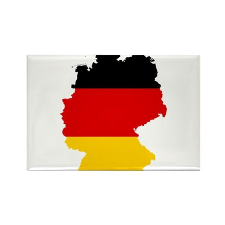 Germany Subdivisions Flag and Map Rectangle Magnet
