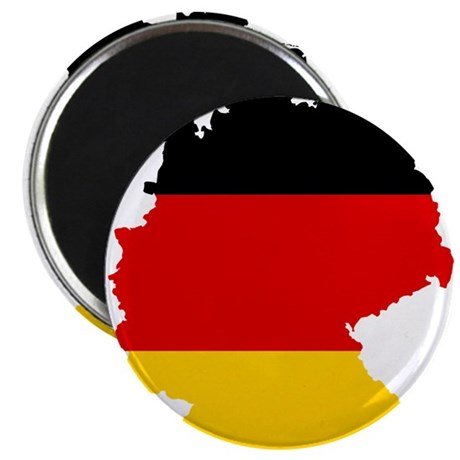 "Germany Subdivisions Flag and Map 2.25"" Magnet (10"