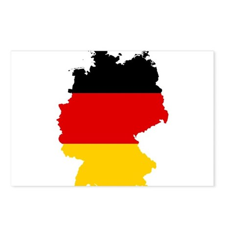 Germany Subdivisions Flag and Map Postcards (Packa