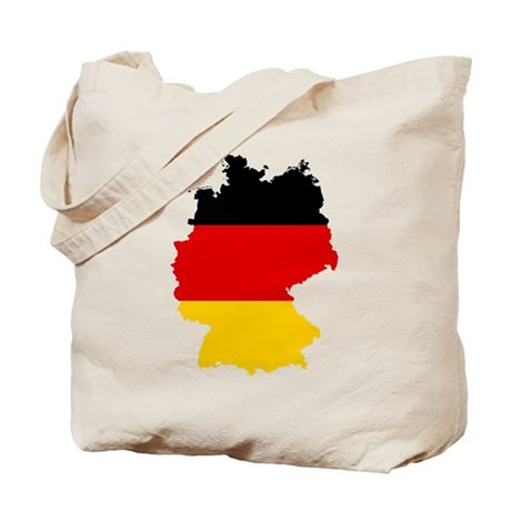 Germany Subdivisions Flag and Map Tote Bag