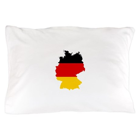 Germany Subdivisions Flag and Map Pillow Case