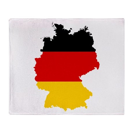 Germany Subdivisions Flag and Map Throw Blanket