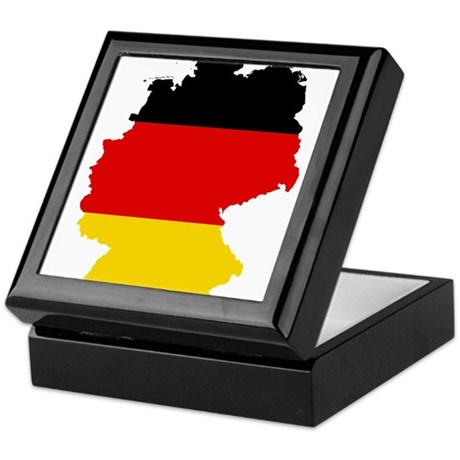 Germany Subdivisions Flag and Map Keepsake Box