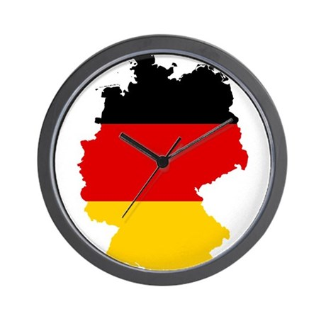 Germany Subdivisions Flag and Map Wall Clock