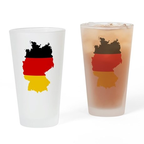 Germany Subdivisions Flag and Map Drinking Glass