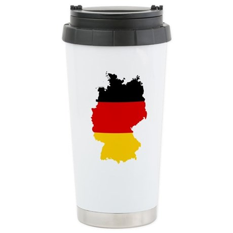 Germany Subdivisions Flag and Map Stainless Steel
