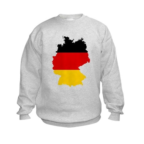 Germany Subdivisions Flag and Map Kids Sweatshirt