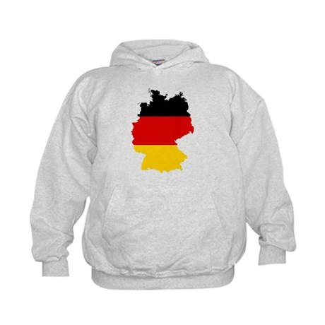 Germany Subdivisions Flag and Map Kids Hoodie