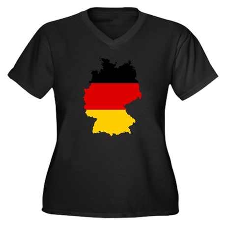 Germany Subdivisions Flag and Map Women's Plus Siz