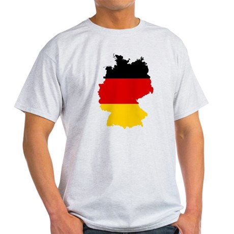 Germany Subdivisions Flag and Map Light T-Shirt