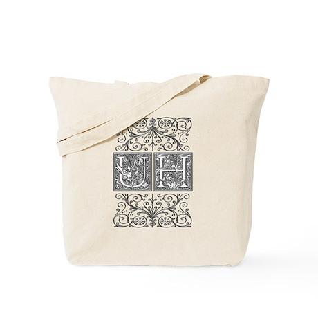 UH, initials, Tote Bag