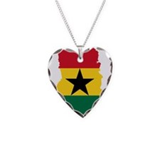 Ghana Flag and Map Necklace