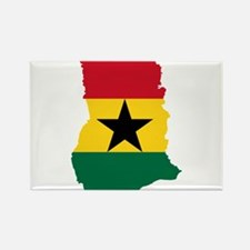 Ghana Flag and Map Rectangle Magnet