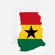 Ghana Flag and Map Greeting Card