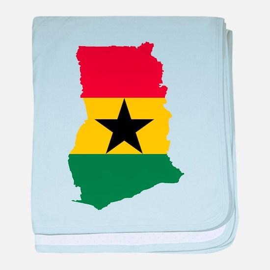 Ghana Flag and Map baby blanket