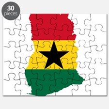 Ghana Flag and Map Puzzle