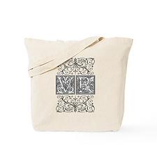 VR, initials, Tote Bag