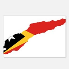 Great Timor Flag and Map Postcards (Package of 8)
