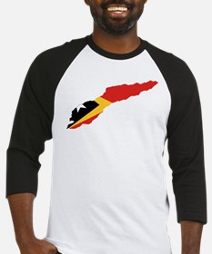 Great Timor Flag and Map Baseball Jersey