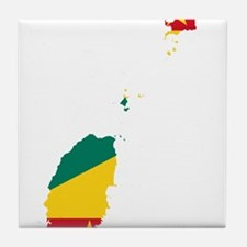Grenada Flag and Map Tile Coaster