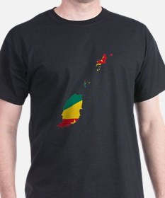 Grenada Flag and Map T-Shirt