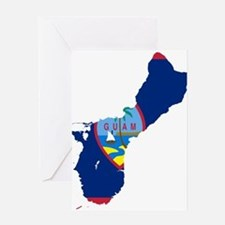 Guam Flag and Map Greeting Card