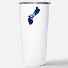 Guam Flag and Map Travel Mug