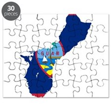 Guam Flag and Map Puzzle