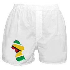 Guyana Flag and Map Boxer Shorts