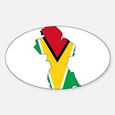 Guyana Flag and Map Decal